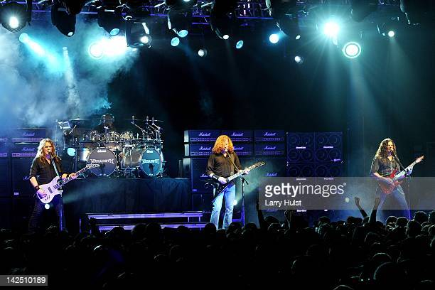 Megadeth at the Fillmore Auditorium in Denver Colorado on February 28 2012