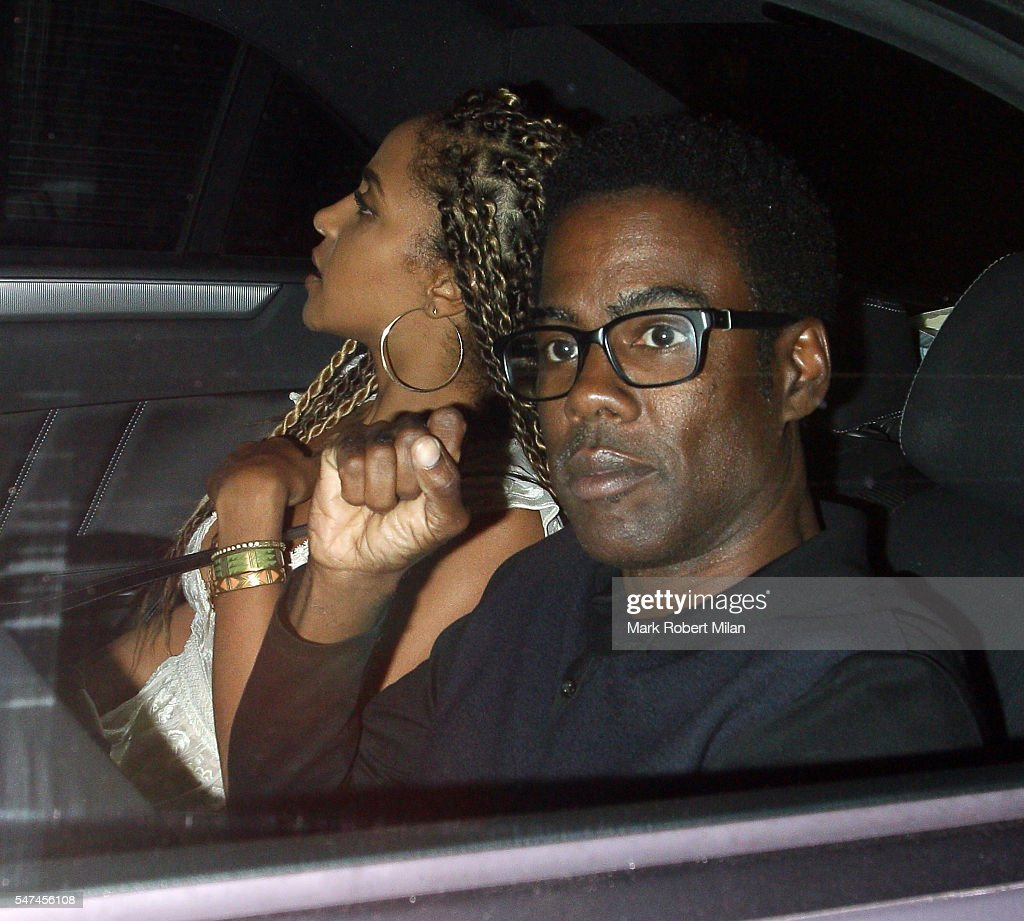 Megalyn Echikunwoke and Chris Rock leave the Chiltern Firehouse on July 14 2016 in London England
