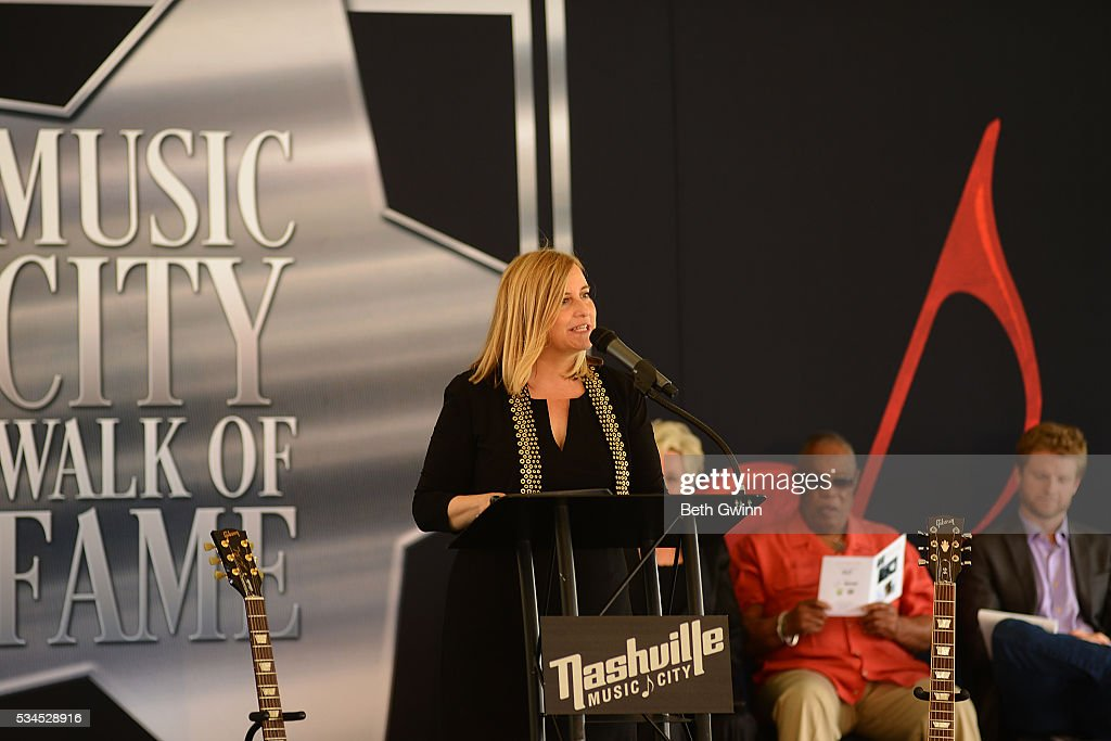 Megan Barry talks at the Walk of Fame Park on May 26, 2016 in Nashville, Tennessee.