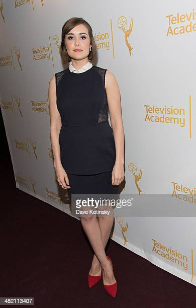 Megan Boone attends an evening with 'The Blacklist' at Florence Gould Hall on April 2 2014 in New York City