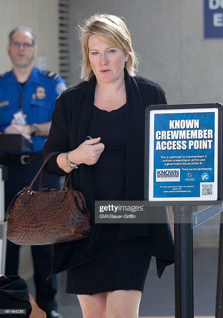 Megan Colligan is seen at LAX airport on January 08, 2014 in Los Angeles, California.