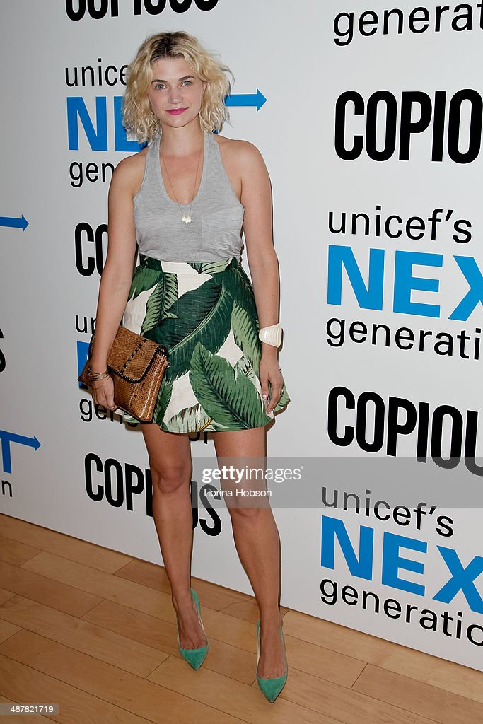 <a gi-track='captionPersonalityLinkClicked' href=/galleries/search?phrase=Megan+Ferguson&family=editorial&specificpeople=4598647 ng-click='$event.stopPropagation()'>Megan Ferguson</a> attends the UNICEF next generation Los Angeles at SkyBar at the Mondrian Los Angeles on May 1, 2014 in West Hollywood, California.