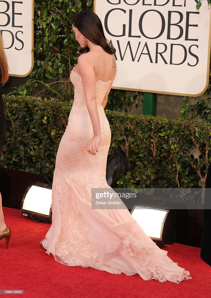 Megan Fox arrives at the 70th Annual Golden Globe Awards at The Beverly Hilton Hotel on January 13, 2013 in Beverly Hills, California.