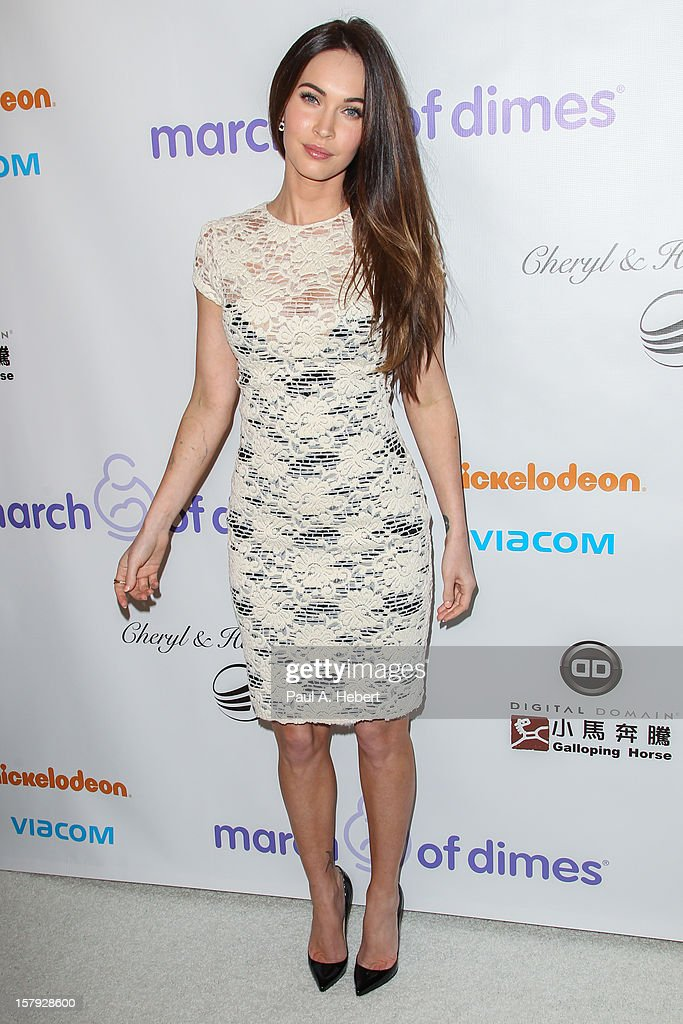 Megan Fox arrives at the March Of Dimes' Celebration Of Babies held at the Beverly Hills Hotel on December 7, 2012 in Beverly Hills, California.