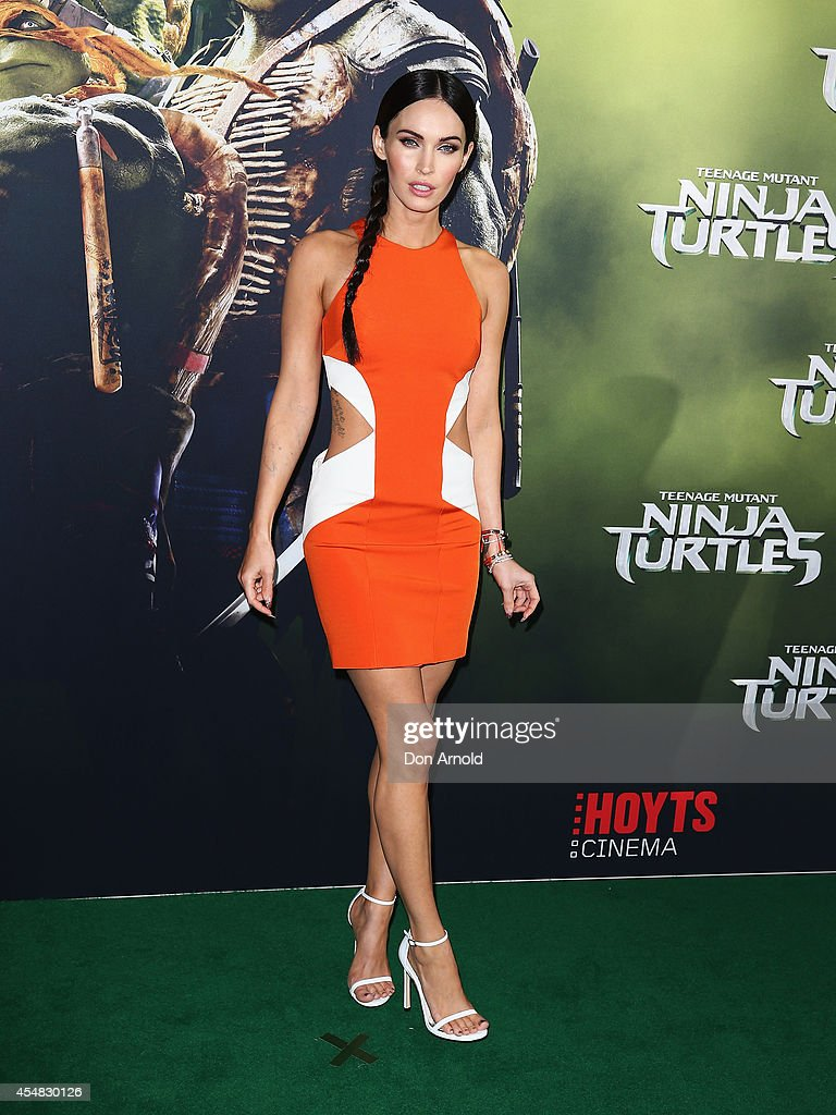 <a gi-track='captionPersonalityLinkClicked' href=/galleries/search?phrase=Megan+Fox&family=editorial&specificpeople=2239934 ng-click='$event.stopPropagation()'>Megan Fox</a> arrives at the Sydney Premiere of 'Teenage Mutant Ninja Turtles' at The Entertainment Quarter on September 7, 2014 in Sydney, Australia.