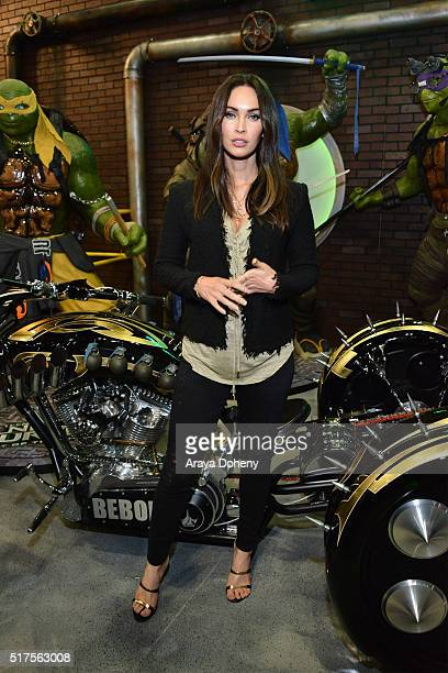 Megan Fox attends an autograph signing at WonderCon 2016 for the upcoming release of Paramount Pictures' 'Teenage Mutant Ninja Turtles Out of the...