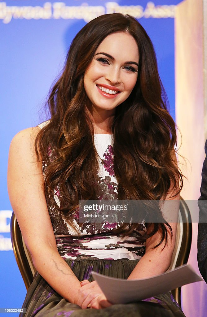 Megan Fox attends the 70th Annual Golden Globe Awards nominations announcement held at The Beverly Hilton on December 13, 2012 in Los Angeles, California.