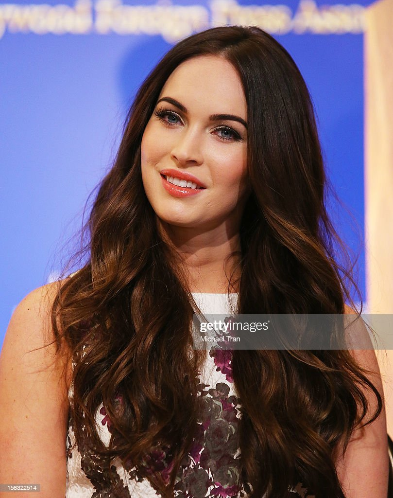 <a gi-track='captionPersonalityLinkClicked' href=/galleries/search?phrase=Megan+Fox&family=editorial&specificpeople=2239934 ng-click='$event.stopPropagation()'>Megan Fox</a> attends the 70th Annual Golden Globe Awards nominations announcement held at The Beverly Hilton on December 13, 2012 in Los Angeles, California.