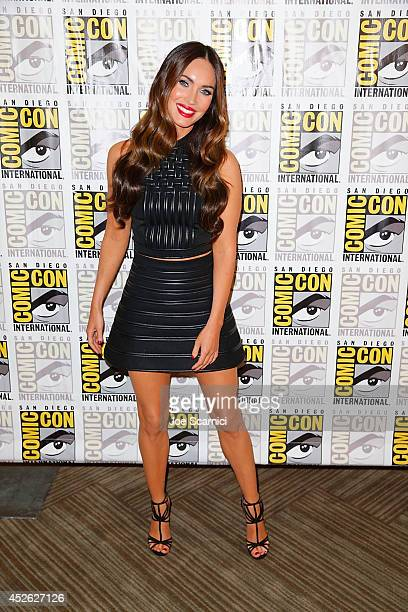 Megan Fox attends the 'Teenage Mutant Ninja Turtles' press line at ComicCon International 2014 Day 1 on July 24 2014 in San Diego California