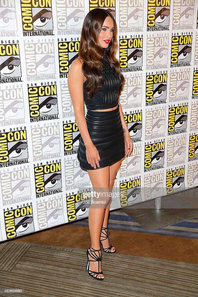 Megan Fox attends the Tenage Mutant Ninja Turtles press line at Comic-Con International 2014 - Day 1 on July 24, 2014 in San Diego, California.