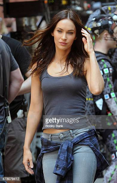 Megan Fox on the set of 'Teenage Mutant Ninja Turtles 2' on May 12 2015 in New York City