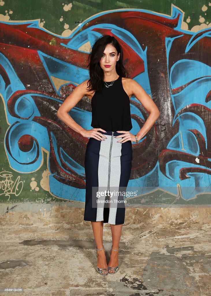 <a gi-track='captionPersonalityLinkClicked' href=/galleries/search?phrase=Megan+Fox&family=editorial&specificpeople=2239934 ng-click='$event.stopPropagation()'>Megan Fox</a> poses during a photo call for the 'Teenage Mutant Ninja Turtles' at Paddington Reservoir on September 8, 2014 in Sydney, Australia.