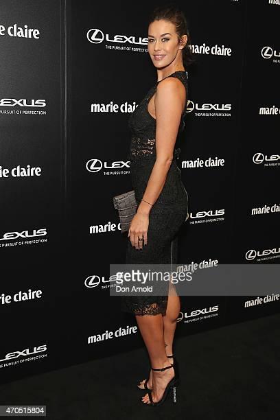 Megan Gale arrives at the 2015 Prix de Marie Claire Awards at Fox Studios on April 21 2015 in Sydney Australia