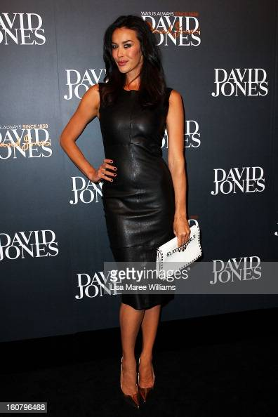 Megan Gale arrives at the David Jones A/W 2013 Season Launch at David Jones Castlereagh Street on February 6 2013 in Sydney Australia