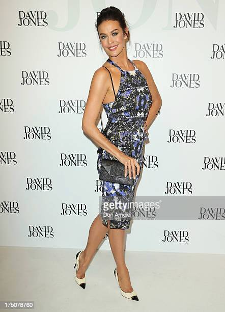Megan Gale arrives at the David Jones Spring/Summer 2013 Collection Launch at David Jones Elizabeth Street on July 31 2013 in Sydney Australia