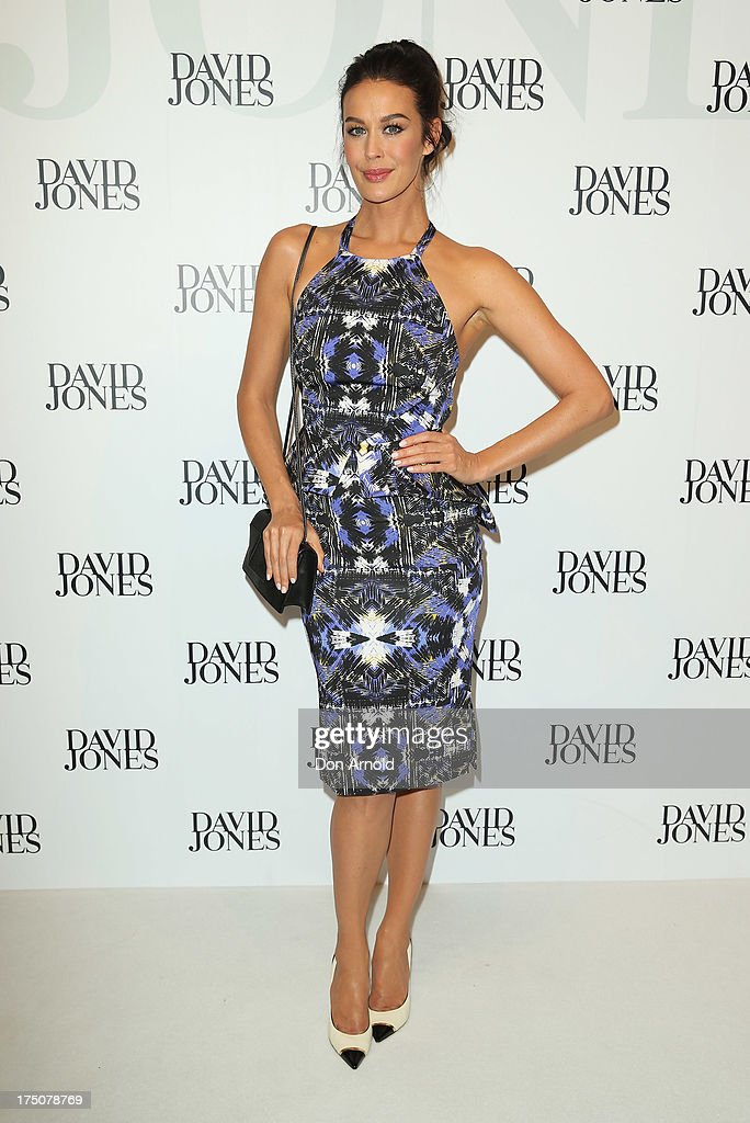 Megan Gale arrives at the David Jones Spring/Summer 2013 Collection Launch at David Jones Elizabeth Street on July 31, 2013 in Sydney, Australia.