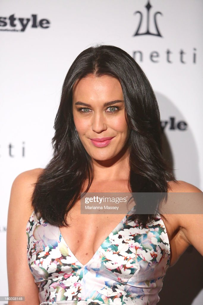 <a gi-track='captionPersonalityLinkClicked' href=/galleries/search?phrase=Megan+Gale&family=editorial&specificpeople=202042 ng-click='$event.stopPropagation()'>Megan Gale</a> arrives at the Men's Style 10th Birthday Party at The Ivy on September 10, 2013 in Sydney, Australia.
