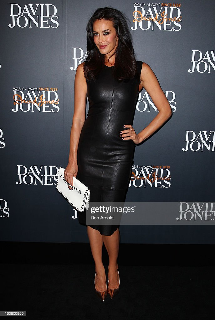 Megan Gale arrives for the David Jones A/W 2013 Season Launch at David Jones Castlereagh Street on February 6, 2013 in Sydney, Australia.