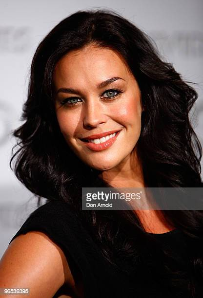 Megan Gale arrives on the red carpet for the David Jones Autumn/Winter 2010 Fashion Launch at at Hordern Pavilion on February 10 2010 in Sydney...