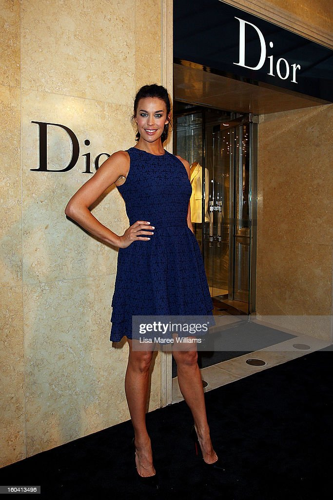 Megan Gale attends the opening of the Christan Dior Sydney store on January 31, 2013 in Sydney, Australia.