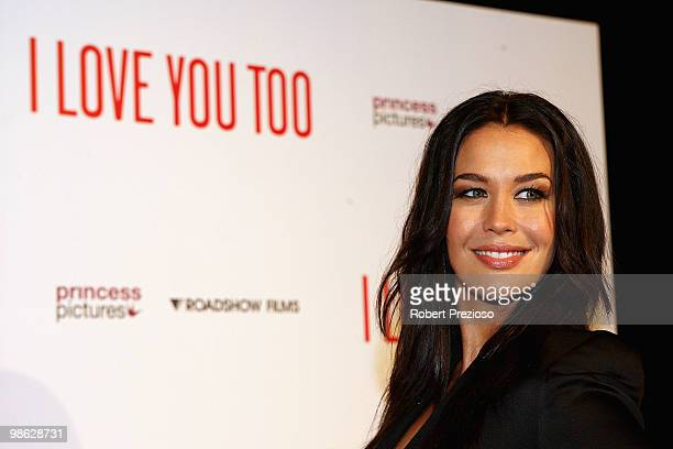 Megan Gale attends the premiere of 'I Love You Too' at Village Jam Factory on April 23 2010 in Melbourne Australia