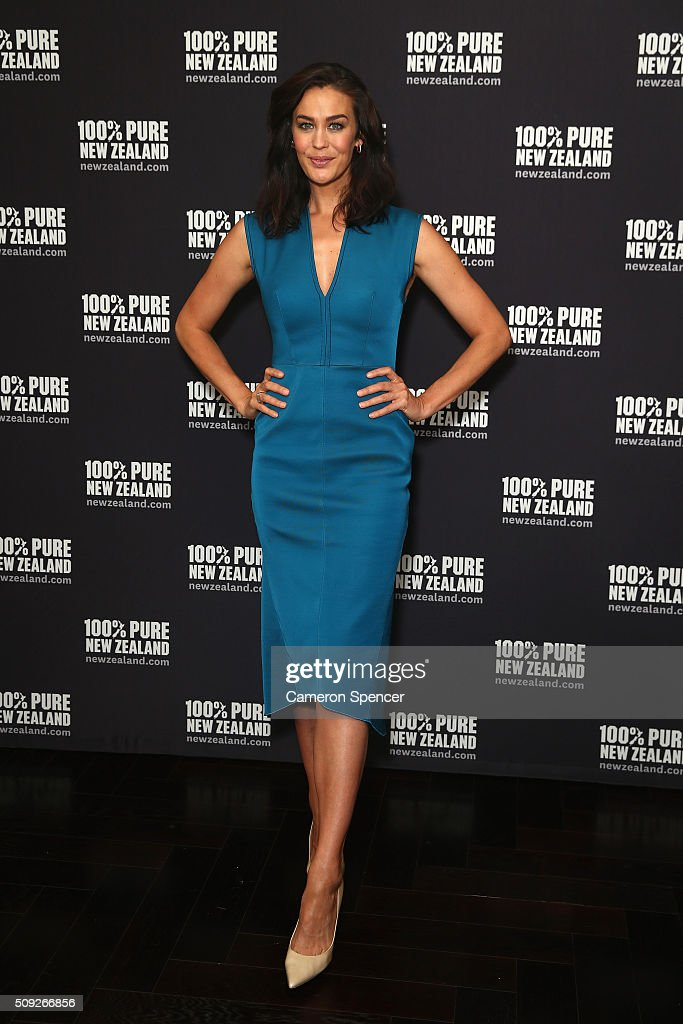 Megan Gale poses after being announced as Tourism New Zealand's celebrity ambassador promoting 100% Pure New Zealand Cycling campaign during a press conference at Four Seasons Hotel on February 10, 2016 in Sydney, Australia.