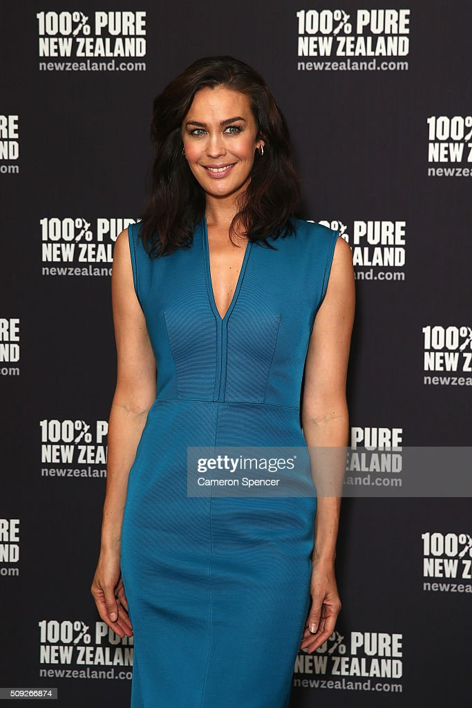 <a gi-track='captionPersonalityLinkClicked' href=/galleries/search?phrase=Megan+Gale&family=editorial&specificpeople=202042 ng-click='$event.stopPropagation()'>Megan Gale</a> poses after being announced as Tourism New Zealand's celebrity ambassador promoting 100% Pure New Zealand Cycling campaign during a press conference at Four Seasons Hotel on February 10, 2016 in Sydney, Australia.