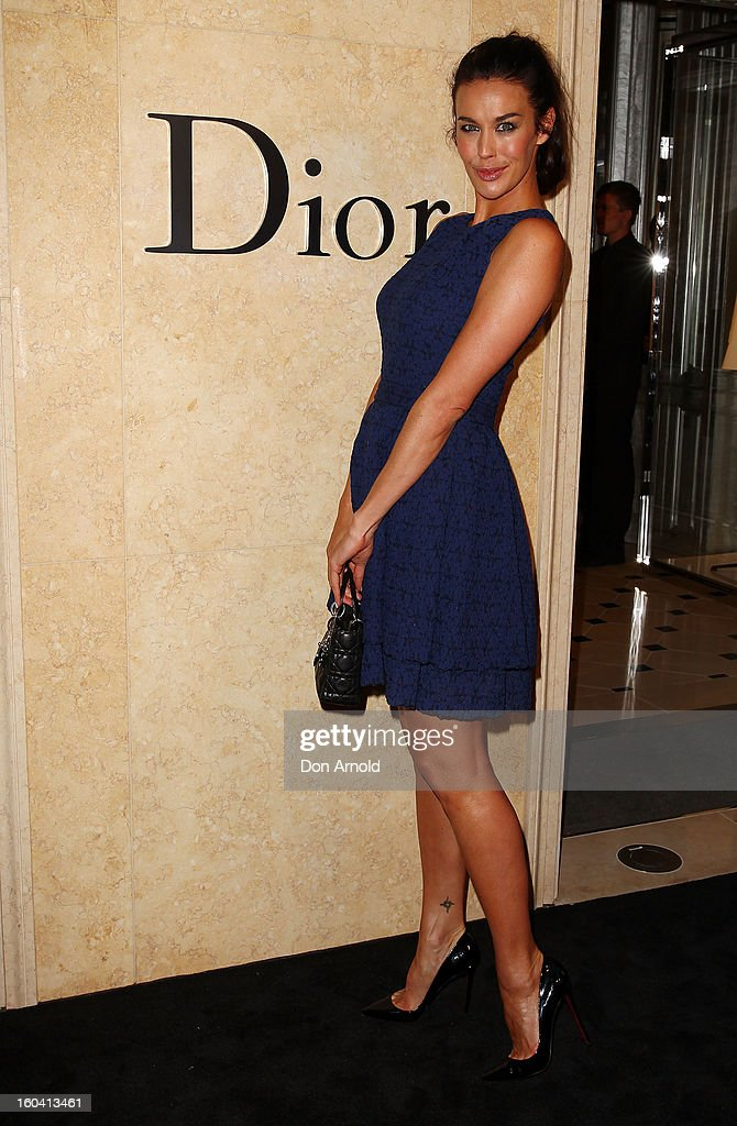 Megan Gale poses at the opening of the Christan Dior Sydney store on January 31, 2013 in Sydney, Australia.