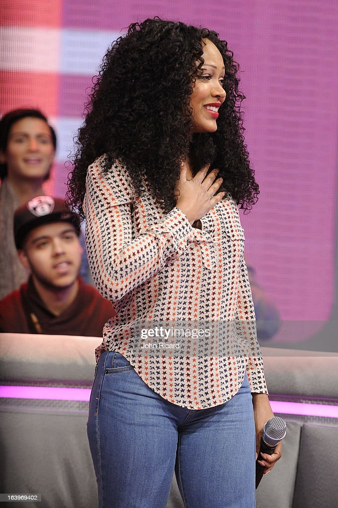 Megan Good visits BET's '106 & Park' at BET Studios on March 18, 2013 in New York City.