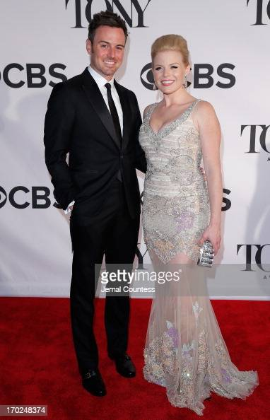 Megan Hilty and Brian Gallagher attend The 67th Annual Tony Awards at Radio City Music Hall on June 9 2013 in New York City