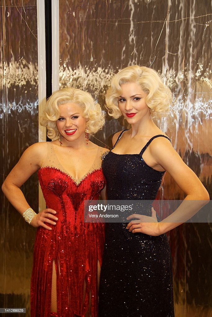 Megan Hilty and Katharine McPhee at the 'Smash' Set Visit at St George Theatre on March 10 2012 in New York City