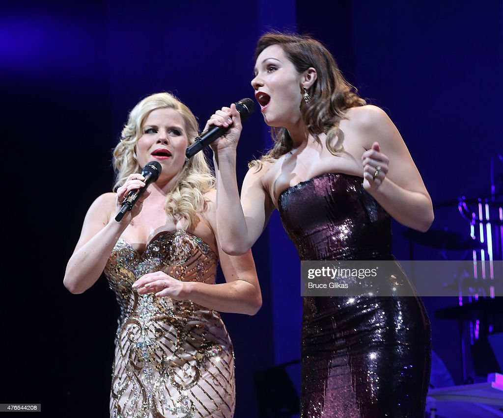 Megan Hilty and Katharine McPhee of the cast of NBC's 'Smash' reunite for The Actors Fund of America presents 'Bombshell The Marilyn Monroe Musical'...