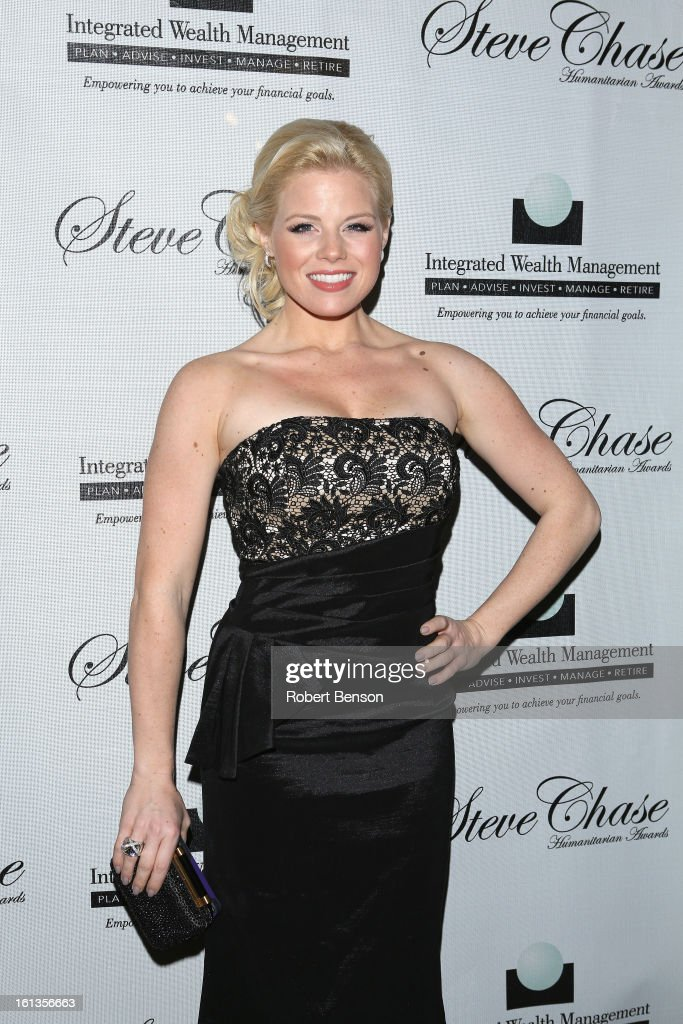 Megan Hilty arrives at the 19th Annual Steve Chase Humanitarian Awards Gala at the Palm Springs Convention Center on February 9, 2013 in Palm Springs, California.