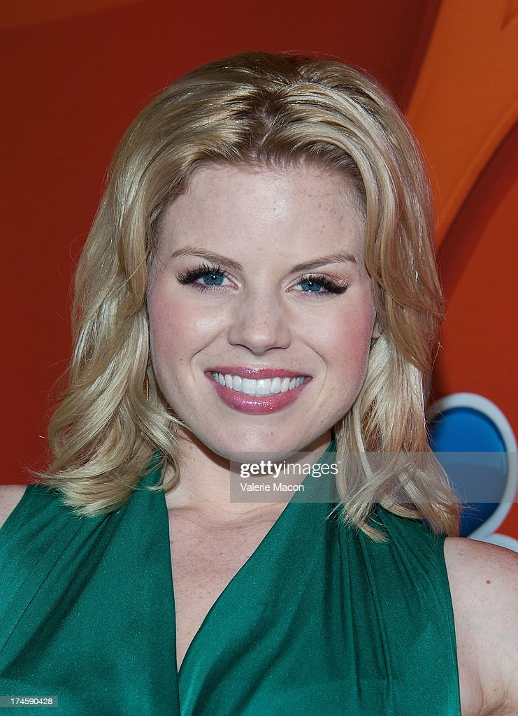 Megan Hilty arrives at the NBCUniversal's '2013 Summer TCA Tour' at The Beverly Hilton Hotel on July 27, 2013 in Beverly Hills, California.