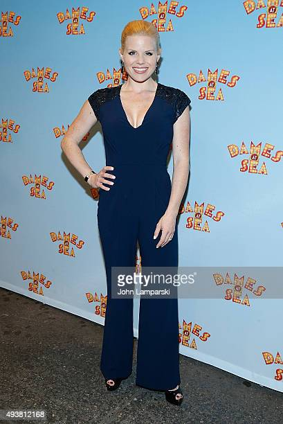 Megan Hilty attends Dames At Sea' Opening Night at Helen Hayes Theatre on October 22 2015 in New York City