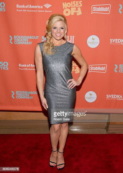 Megan Hilty attends 'Noises Off' Broadway opening night at American Airlines Theatre on January 14 2016 in New York City