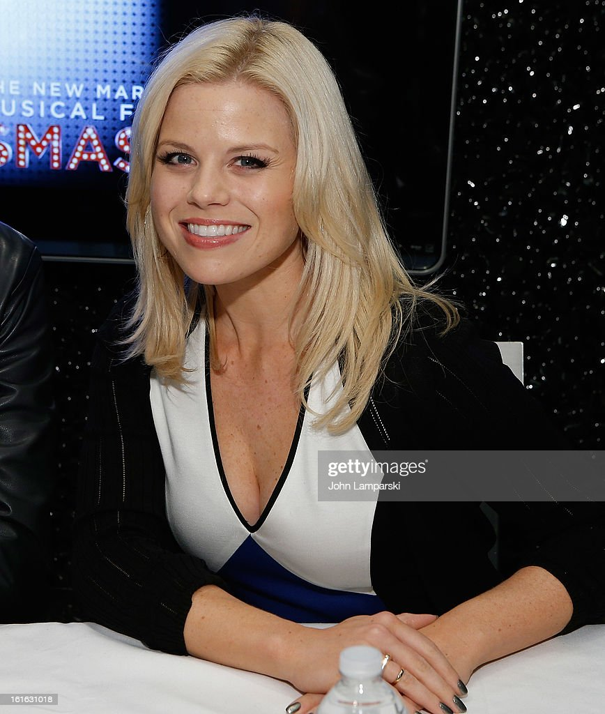 <a gi-track='captionPersonalityLinkClicked' href=/galleries/search?phrase=Megan+Hilty&family=editorial&specificpeople=602492 ng-click='$event.stopPropagation()'>Megan Hilty</a> attends the 'Bombshell' The Complete 'Smash' Cast Recording Meet & Greet at NBC Experience Store on February 13, 2013 in New York City.