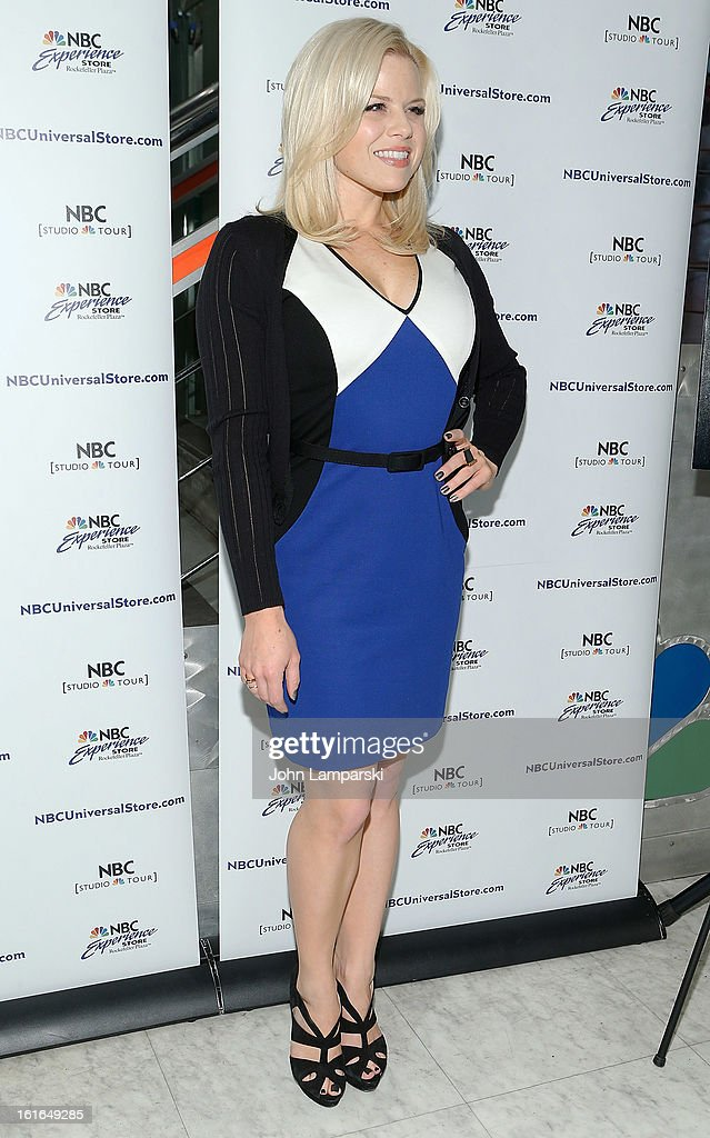 Megan Hilty attends the 'Bombshell' The Complete 'Smash' Cast Recording Meet & Greet at NBC Experience Store on February 13, 2013 in New York City.