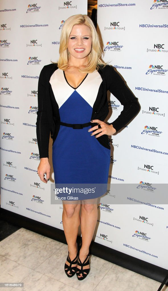 Megan Hilty attends The 'Bombshell: The New Marilyn Musical from Smash Cast Recording' CD signing at NBC Experience Store on February 13, 2013 in New York City.