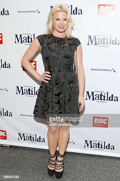 Megan Hilty attends the 'Matilda The Musical' Broadway Opening Night at Shubert Theatre on April 11 2013 in New York City