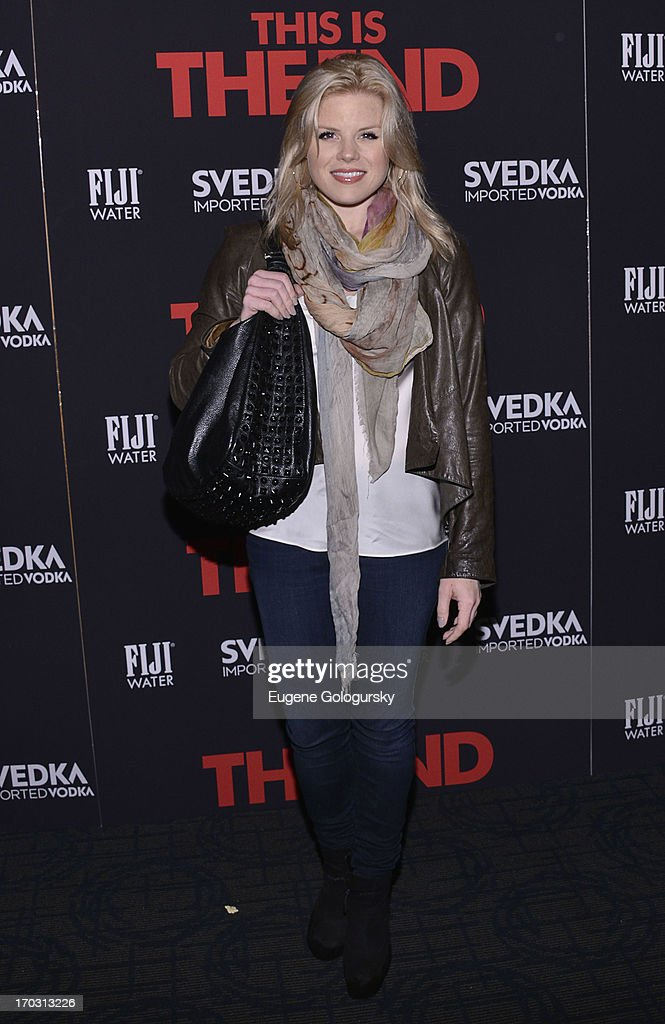 <a gi-track='captionPersonalityLinkClicked' href=/galleries/search?phrase=Megan+Hilty&family=editorial&specificpeople=602492 ng-click='$event.stopPropagation()'>Megan Hilty</a> attends 'This Is The End' New York Premiere at Landmark's Sunshine Cinema on June 10, 2013 in New York City.