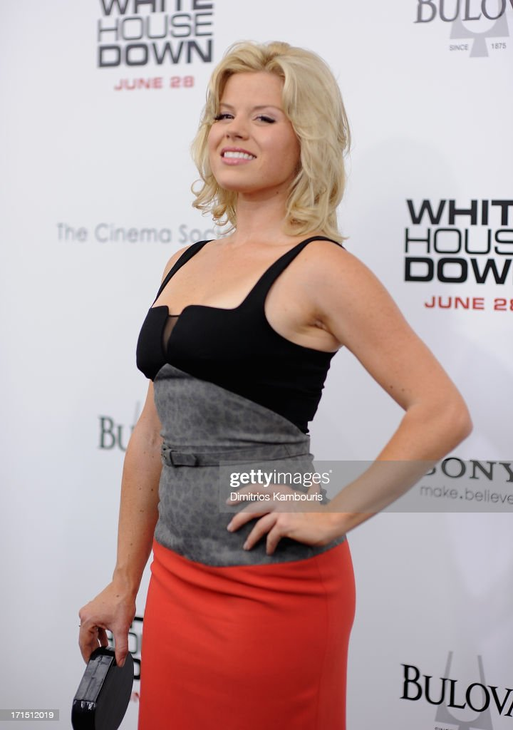 Megan Hilty attends 'White House Down' New York Premiere at Ziegfeld Theater on June 25, 2013 in New York City.