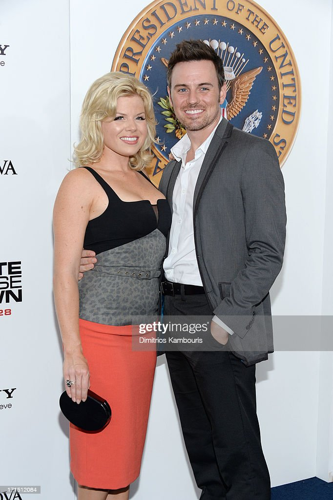 Megan Hilty (L) attends 'White House Down' New York premiere at Ziegfeld Theater on June 25, 2013 in New York City.