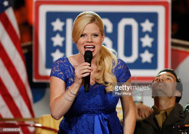 Megan Hilty performs at the 25th National Memorial Day Concert at the US Capitol West Lawn on May 25 2014 in Washington DC
