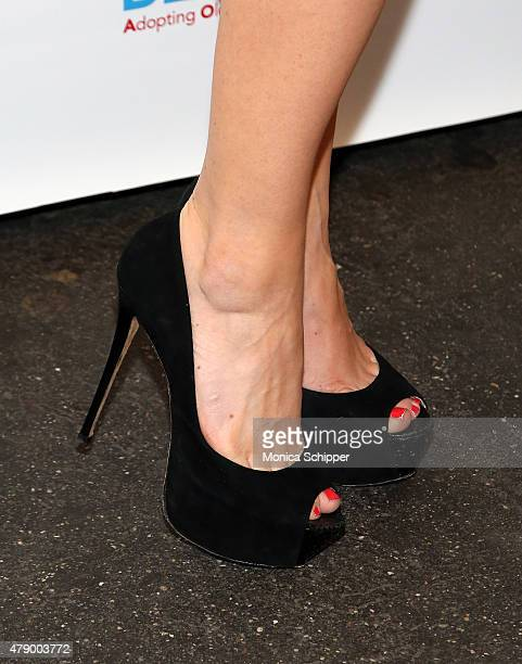 Megan Hilty shoe detail attends 'Voices For The Voiceless Stars For Foster Kids' Event at St James Theater on June 29 2015 in New York City