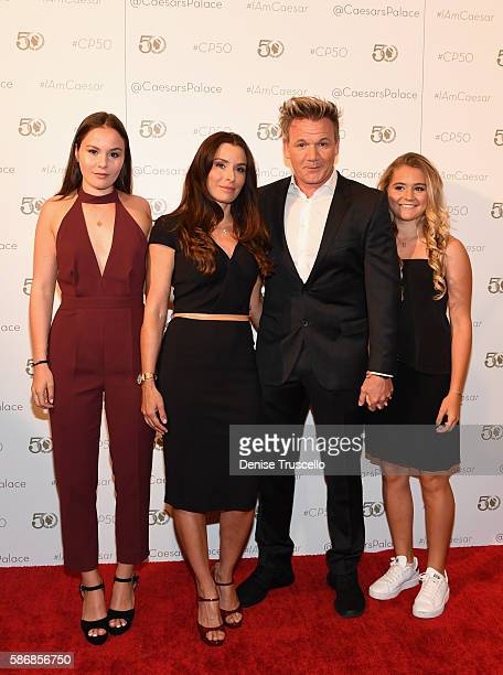 Megan Jane Ramsay Tana Ramsay chef Gordon Ramsay and Matilda Elizabeth Ramsay arrive at Caesars Palace during the resort's 50th anniversary gala on...
