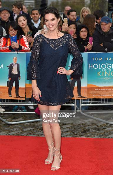 Megan Maczko arrives for the UK premiere of 'A Hologram For The King' at BFI Southbank on April 25 2016 in London England