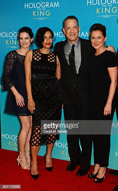 Megan Maczko Sarita Choudhury Tom Hanks and Sidse Babett Knudsen attend the UK Premiere of 'A Hologram For The King' at the BFI Southbank on April 25...