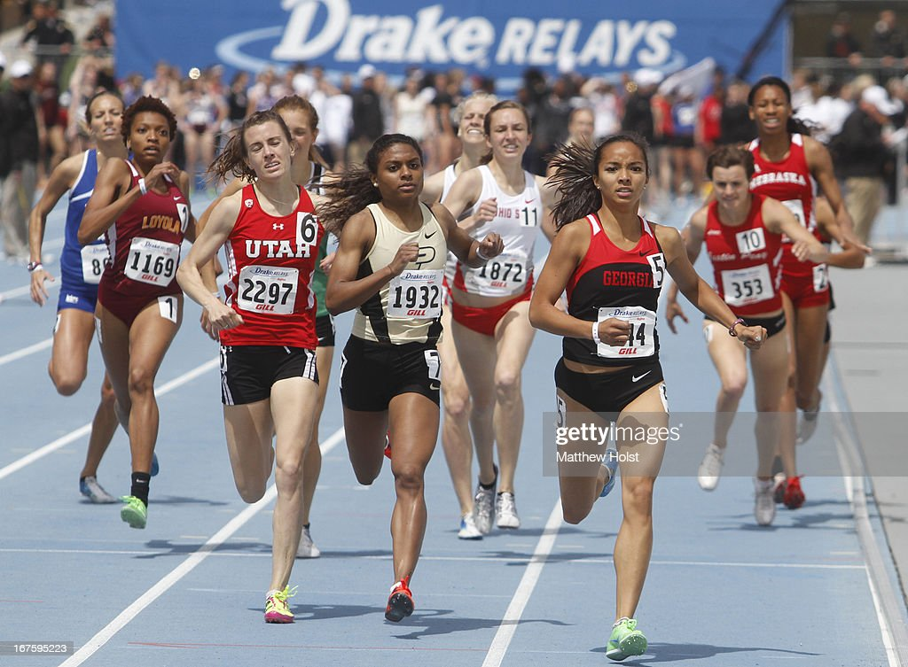 Megan Malasarte of the Georgia Bulldogs competes in the Women's 800-meter at the Drake Relays, on April 26, 2013 at Drake Stadium, in Des Moines, Iowa.