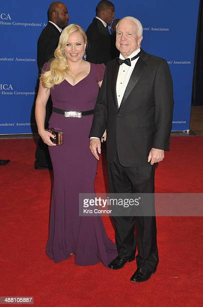 Megan McCain and Senator John McCain attend the 100th Annual White House Correspondents' Association Dinner at the Washington Hilton on May 3 2014 in...